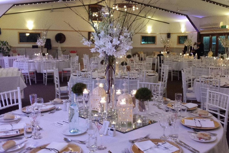 wedding receptions with americano chairs