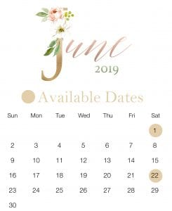 June Wedding Date
